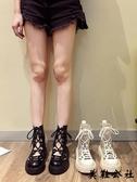 馬丁靴 馬丁靴女夏季涼鞋薄款短靴百搭透氣靴子秋季厚底夏天鏤空ins潮酷 『美鞋公社』