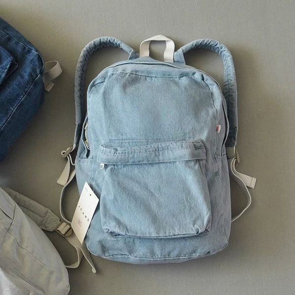 Denim Janes bag 熱銷歐美 高級牛仔布料 牛仔包 丹寧包  肩背 斜背 牛仔後背包