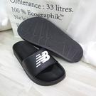 New Balance 拖鞋 公司正品 整數碼 SD1101GBK 男女款 黑【iSport愛運動】