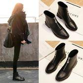靴子女 短筒靴秋冬季新款粗跟馬丁靴英倫風復古短筒靴韓版百搭 免運