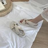 羅馬涼鞋夏天羅馬涼鞋女仙女風新款夏季平底ins潮厚底舒適學生百搭【快速出貨八折鉅惠】