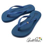 Arnold Palmer - 素色人字夾腳休閒拖鞋 - 732 藍
