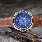【送馬克杯】Timberland 天柏嵐廣告款手錶-藍x棕-47mm TBL.15516JS/03