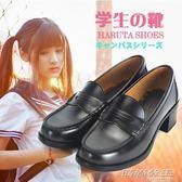 日本學生鞋 JK制服鞋舞臺鞋 萬用洛麗塔lolita皮鞋黑高跟cos鞋子     時尚教主