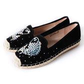 DeSire  童趣魚水鑽平底休閒鞋  -黑