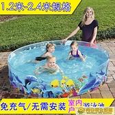 室內游泳池 兒童家用游泳池小孩寶寶戲水池嬰兒戶外室內洗澡玩水池折疊免充氣 向日葵