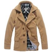 長大衣-經典款流行首選長版男外套3色5z34【巴黎精品】