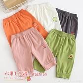 兒童七分褲夏季女童打底褲寶寶休閒褲子男童短褲薄