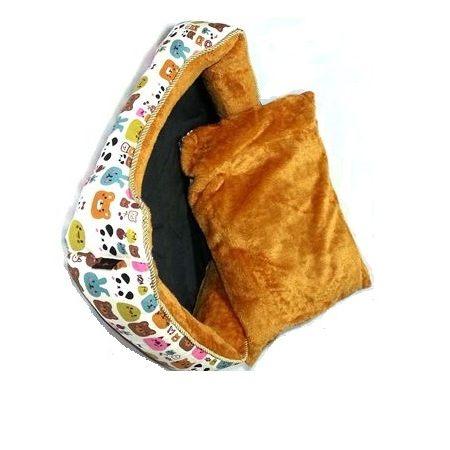 [寵飛天商城] 寵物床 窩 小狗睡床 窩墊 && 可愛小熊 舒適柔軟床墊 (可拆洗) 多種花色 不結球 (S號)
