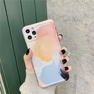 iPhone12 蘋果手機殼 預購 可掛繩 清新暈染水彩 矽膠軟殼 i11/iX/i8/i7/SE