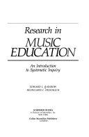 二手書博民逛書店《Research in Music Education: An Introduction to Systematic Inquiry》 R2Y ISBN:0028703200