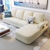 北歐布藝沙發客廳沙發整裝組合簡約現代可拆洗三人位布沙發xw