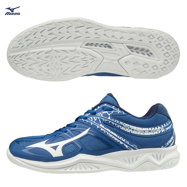 MIZUNO THUNDER BLADE 2 男鞋 女鞋 排球 手球 2.5E 基本 耐磨 輕量 藍【運動世界】V1GA197006