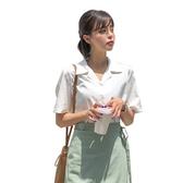 東京著衣-MERONGSHOP-百搭日常馬卡龍多色不易皺短袖襯衫(E190012)