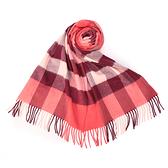 BURBERRY經典大格紋喀什米爾羊毛圍巾(磚紅色)089542-4