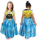 安娜公主洋裝B (含皇冠+洋裝+披肩) 三件組】萬聖 聖誕 服裝 舞會 派對 舞台 表演 冰雪奇緣 禮服