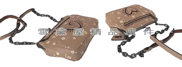 ~雪黛屋~COACH 斜側包中容量肩背斜側國際正版保證進口防水防刮皮革材質品證購證塵套提袋C291131