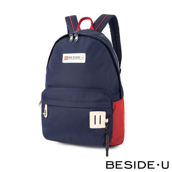 【BESIDE-U】 HALCYON系列寬闊休閒後背包 - 深灰藍