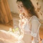 少女蕾絲內衣女無鋼圈薄款大胸顯小文胸套裝法式日系性感超薄夏季 現貨快出