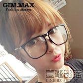 新款韓國黑框眼鏡男女超寬大框眼鏡框非主流眼鏡架平光眼鏡