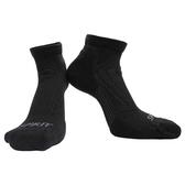 【岱宇國際Dyaco】SPIRIT 跑步短筒襪(壓縮/除臭)-黑