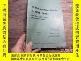 二手書博民逛書店a罕見management guide to pert/cpm;