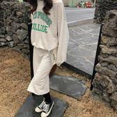 【狐狸跑跑】春季韓國字母套頭衛衣 松緊腰中長裙休閑套裝女Z37118
