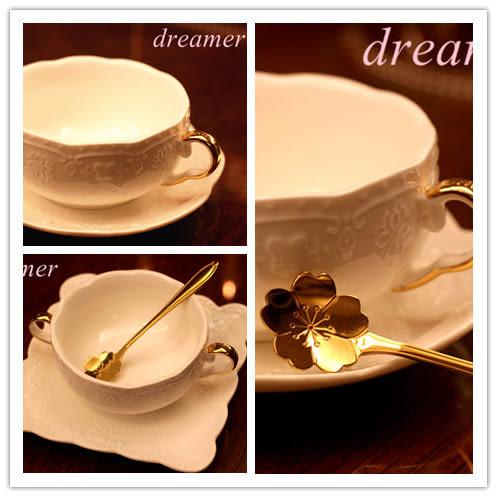 [超豐國際]金邊雙耳碗歐式浮雕陶瓷 奶湯碗 雙耳碗 湯盅 甜