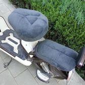 電動車坐墊套座套冬季軟電動自行車後座墊電瓶車坐墊加厚保暖 格蘭小舖