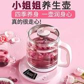 養生壺全自動加厚玻璃多功能煎藥電熱燒水壺花茶壺家用mini煮茶器-220V-享家