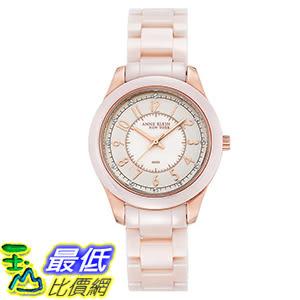 [106美國直購] Anne Klein New York Pink Ceramic Women s Watch 女士手錶