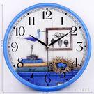 創意掛鐘客廳鐘表現代簡約石英鐘時尚時鐘掛表地中海裝飾壁鐘 qz6821【甜心小妮童裝】