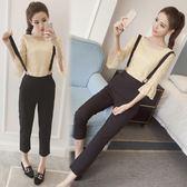 吊帶褲套裝 2018春裝新款韓版女時尚俏皮bf兩件式潮 GY831『時尚玩家』