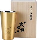 和平Freiz(Wahei Freiz) 【日本代購】不銹鋼平底杯 雙層結構 大師級純手工 300m 櫻花街道SM-9705