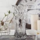歐式創意玻璃花瓶透明 清新家居裝飾擺件 客廳富貴竹鮮花插花容器