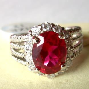 璀璨紅寶石吉祥戒指