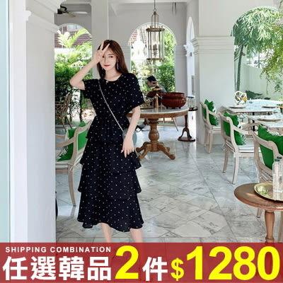 任選2件1280連身裙韓版復古度假風T恤蛋糕裙長版連身裙【08G-M0820】
