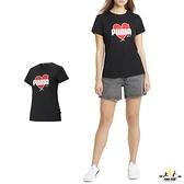 Puma Heart 女款 黑色 短袖 上衣 t恤 運動 休閒 棉質 短袖T恤 58789701
