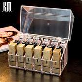 kaman防塵口紅收納盒亞克力放唇釉收納格展示整理透明翻蓋口紅盒