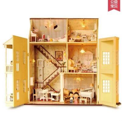 智趣屋 diy小屋 夢想童話家園 大型別墅 手工木質 房模型拼裝建築