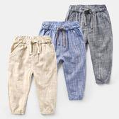 男童休閒褲 男童系帶休閒長褲 韓版童裝 寶寶兒童褲子 寶貝計畫