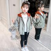 中大尺碼 女童外套2018秋季新款韓版中大童短款連帽秋款洋氣夾克開衫 ys6268『時尚玩家』