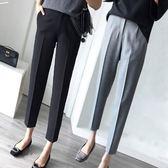 黑色西裝褲女九分褲休閒哈倫高腰小腳