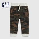 Gap嬰兒 布萊納小熊系列舒適華夫格鬆緊休閒褲 615676-迷彩