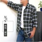【大盤大】(S50323) 長袖襯衫 100%純棉 M-2XL 男 商務 辦公 法蘭絨 格紋襯衫 輕刷毛 上班 薄外套