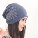 韓版帽子女春夏套頭休閒化療帽女睡帽堆堆百搭女月子包頭帽女透氣 店慶降價
