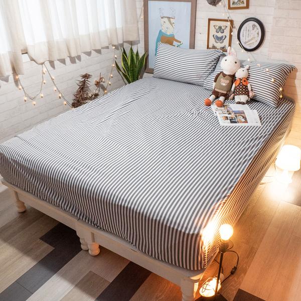 超細纖維床包組 D1雙人床包三件組 四色可選 北歐風 台灣製造 棉床本舖