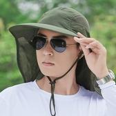 帽子男夏天遮陽帽漁夫帽戶外登山太陽帽防曬帽防紫外線夏季釣魚帽 陽光好物