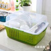 降價兩天-瀝水架加厚塑料大號有蓋碗櫃廚房餐具收納架碗筷整理籃防塵透明瀝水架櫃xw