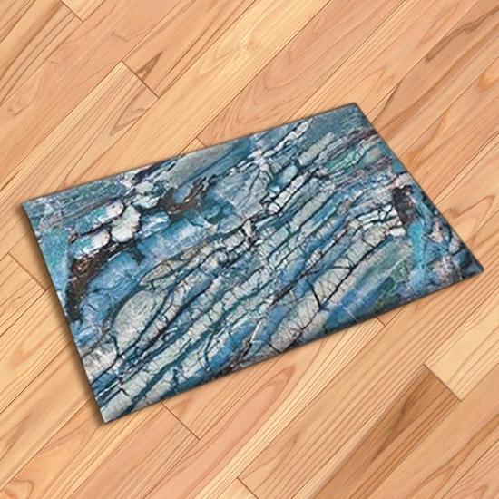 吸水腳墊 大理石紋 地毯 門墊 腳墊 地墊 防滑墊 藍色大理石紋地墊  ◄ 生活家精品 ►【V72】